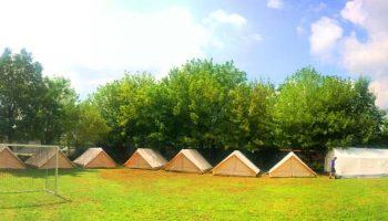 Das Camp steht