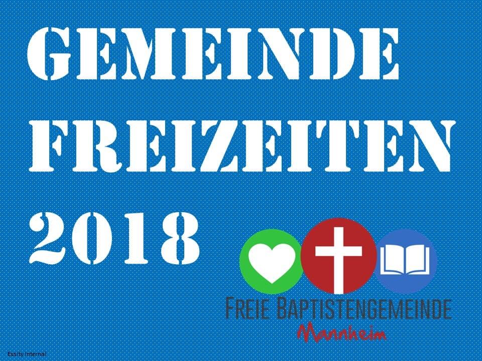 Gemeindefreizeiten 2018