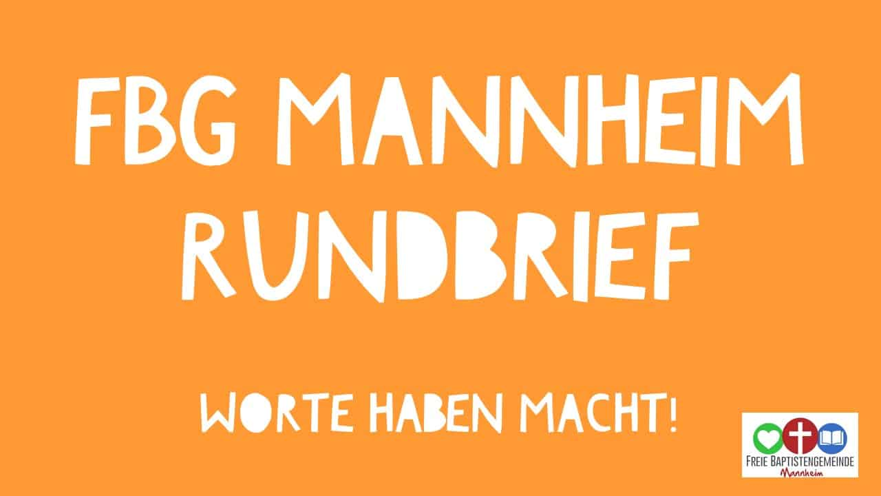 FBG Mannheim Rundbrief Worte haben Macht