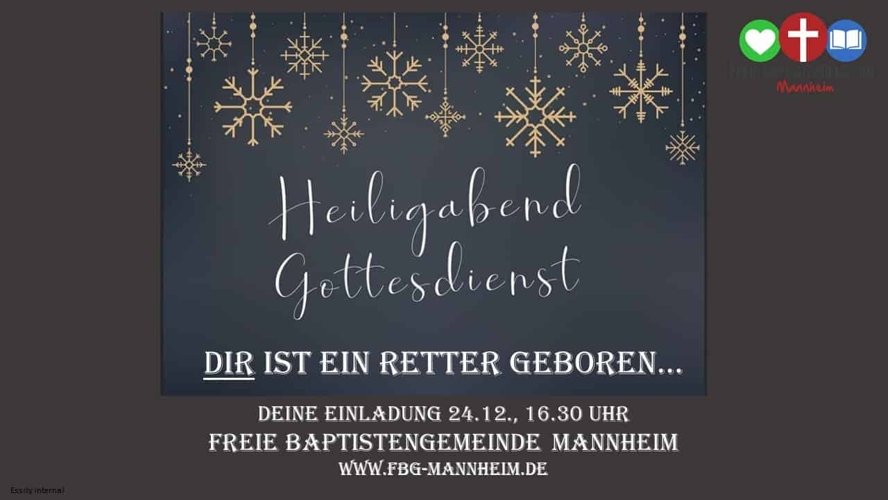 Einladung Heiligabend 2019 FBG Mannheim