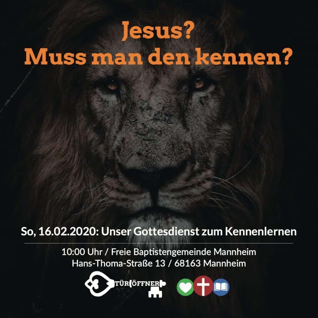 Türöffner Jesus- muß man den kennen?